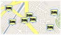 Hotels in Prague on the map