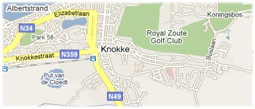 Hotels in Knokke-Heist on the map