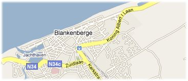 Hotels in Blankenberge on the map