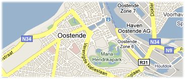 Hotels in Ostend on the map