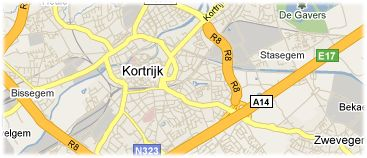 Hotels in Kortrijk on the map