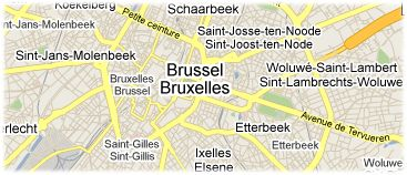 Hotels in Brussel op kaart