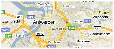 Hotels in Antwerp on the map