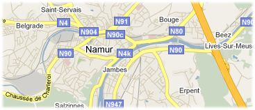 Hotels in Namen op kaart