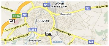 Hotels in Leuven on the map