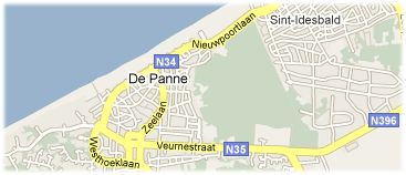 Hotels in De Panne op kaart