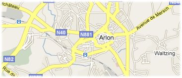 Hotels in Arlon op kaart