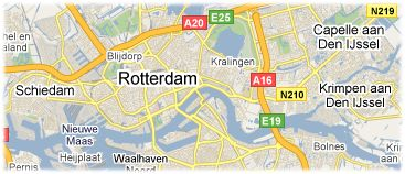 Hotels in Rotterdam on the map