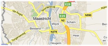Hotels in Maastricht on the map