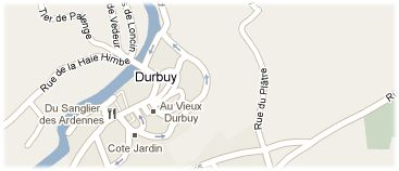 Hotels in Durbuy op kaart