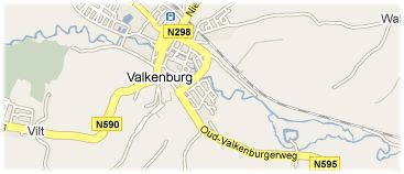 Hotels in Valkenburg on the map