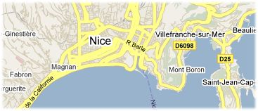 Hotels in Nice op kaart