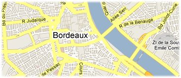 Hotels in Bordeaux on the map