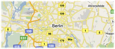 Hotels in Berlin auf Karte