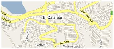 Hotels in Calafate on the map