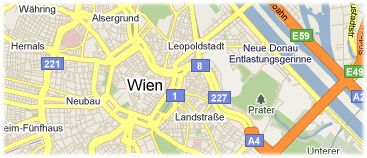 Hotels in Vienna on the map