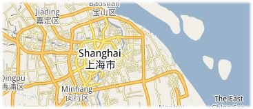 Hotels in Shanghai op kaart