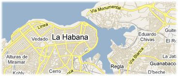 Hotels in Havana on the map