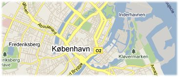 Hotels in Copenhagen on the map