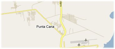 Hotels in Punta Cana on the map