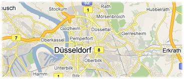 Hotels in Dusseldorf on the map