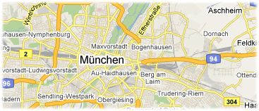 Hotels in Munich on the map