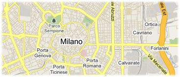 Hotels in Milan on the map