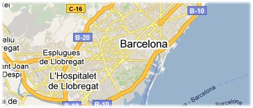 Hotels in Barcelona on the map