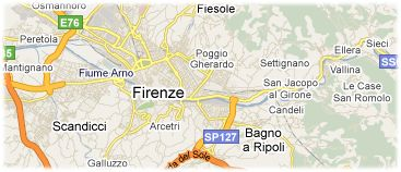 Hotels in Florence on the map