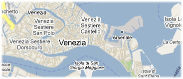 Hotels in Venice on the map