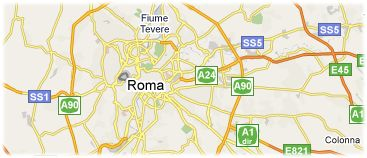 Hotels in Rome on the map