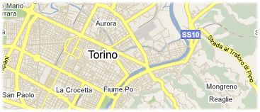 Hotels in Turin on the map