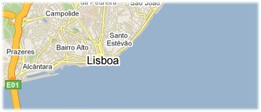 Hotels in Lissabon op kaart