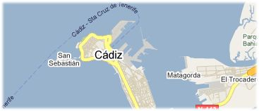 Hotels in Cadiz op kaart