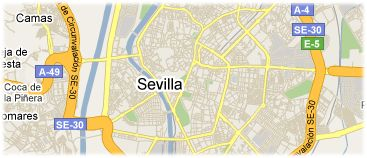 Hotels in Sevilla op kaart