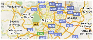 Hotels in Madrid op kaart