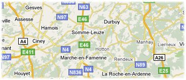 Hotels in Belgian Ardennes on the map