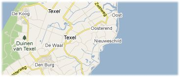 Hotels in Texel on the map