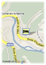 map-Hotel les Merlettes
