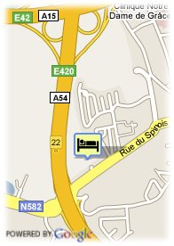 map-Hotel Charleroi Airport