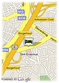 map-Scandic Hotel Antwerpen