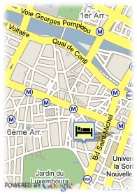 map-Hotel Saint-Paul Rive-Gauche