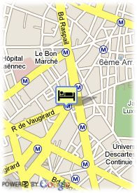map-Hotel Aramis Saint Germain