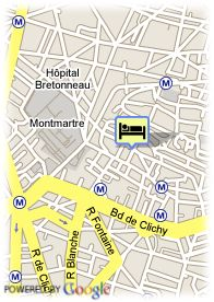 map-Hotel Bonsejour Montmartre