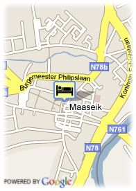 map-Hotel Van Eyck