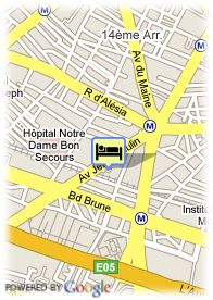 map-Hotel Chatillon