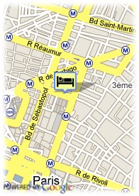 map-Hotel Sejour Beaubourg