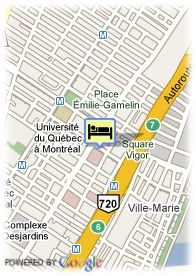 map-Celebrities Hotel Montreal