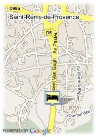 map-Hotel Villa Glanum
