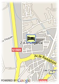 map-Hotel Ariane Istres